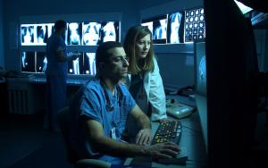 Doctors reading x-rays